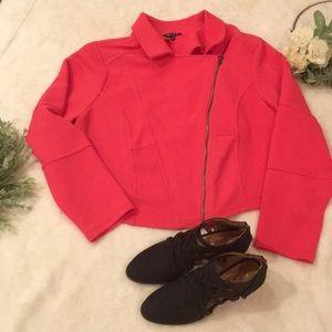 Torrid Coral Fabric Moro Jacket EUC